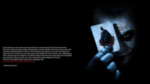 Batman Quotes Wallpaper 1600x900 Batman, Quotes, The, Joker, Batman ...