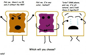 Okay, so let's say that peanut-butter and jelly sandwiches were ...