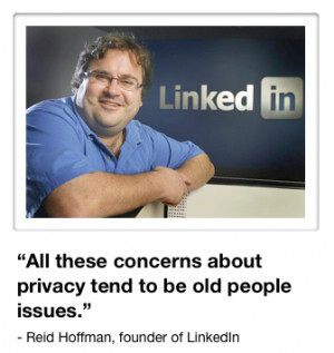 Reid Hoffman privacy quote