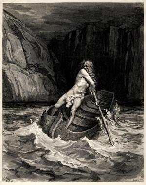 Caronte. Ilustración de Gustave Doré para la Divina Comedia de Dante
