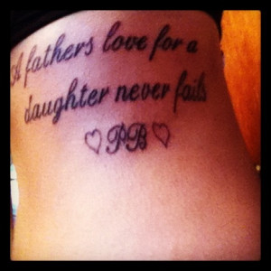 Rip Dad Quotes From Daughter Tattoos Quote tattoo on ribs