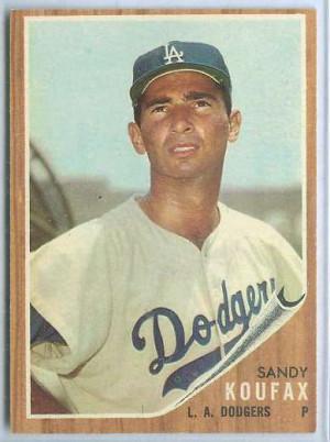 sandy koufax baseball cards