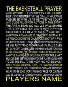 The Basketball Prayer personalized with or without photo 11 X 14 by ...