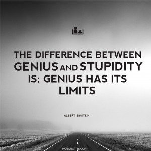 "Albert Einstein Funny Quotes – ""The difference between genius and ..."