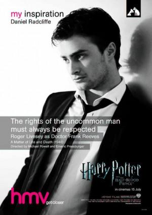 Daniel Radcliffe - hmv 'My Inspiration' posterDaniel picked a ...