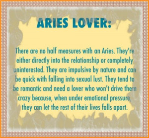 Aries Love Quotes