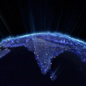 Incredible India at Night from Space !