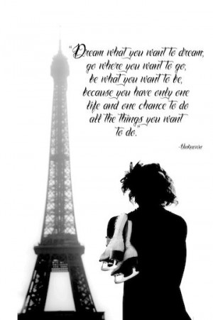 ... SKATING Eiffel Tower Figure Skating Ice Skating Dream Quote Print