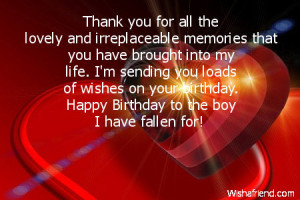 Happy Birthday Quotes for Boyfriend on Facebook