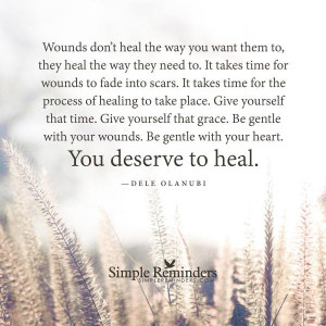 You deserve to heal by Dele Olanubi