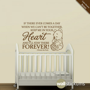 wall decal quotes – nursery wall decal quote winnie the pooh heart ...