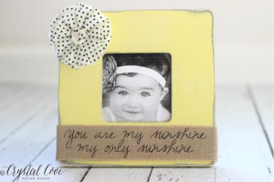You Are My Sunshine Quote Frame Nursery by CrystalCoveDS on Etsy, $28 ...