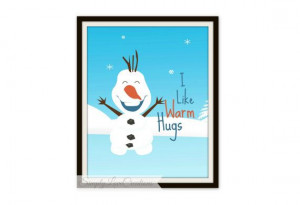 Frozen Print I Like Warm Hugs Quote // by SimplyLoveCreations, $5.00