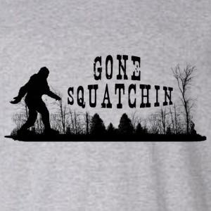 Gone Squatchin Screenprint tshirt - Funny - BigFoot by NeedATeeShirt ...