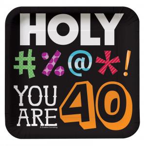 Home > Holy Bleep 40th Birthday - Square Dessert Plates