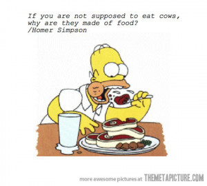 Funny photos funny Homer eating meat