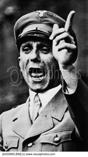 dr joseph goebbels and the nazi propaganda Dr joseph goebbels was the minister of propaganda during the rule of hitler (1933-1945) in nazi germany his job was to spread lies, and falsifications.