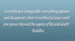 """... Peace Until One Passes Beyond The Agony Of Life And Death """" - Buddha"""