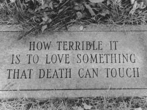 quotes #death #love #morbid #macabre #stone #masonary #dark