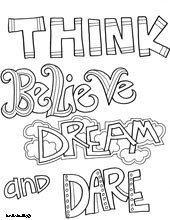 Walt Disney Quotes Coloring Pages