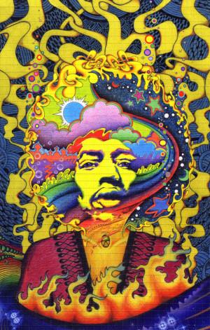 Jimi Hendrix Blotter Art by jeffhoppdotnet