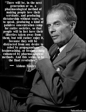Aldous Huxley. Click to enlarge