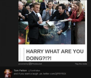 Harry what are you doing!? Tom Felton posted this on twitter. I love ...