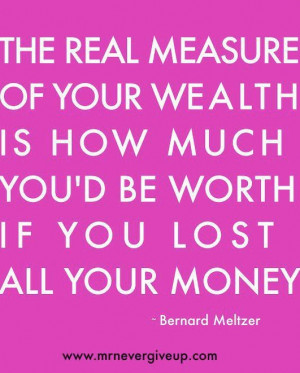 VERY true. Materialistic items don't fill certain needs.. LOVE should ...