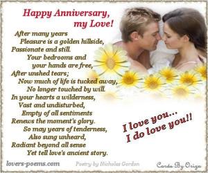 Happy anniversary my love