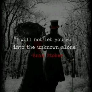 Bram Stoker quote Goth Gothic