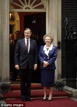 US President George Bush Sr and British Prime Minister Margaret ...