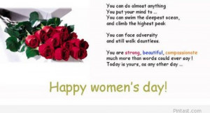 Happy women's day quote free 2014 / Pintast