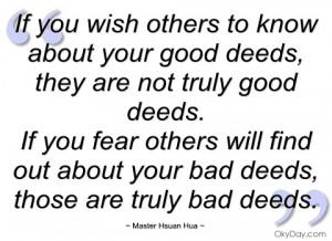 quotes about doing good deeds source http imgarcade com 1 good deeds ...
