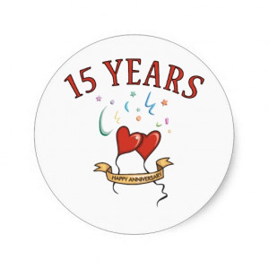 15th Wedding Anniversary Gifts Sticker