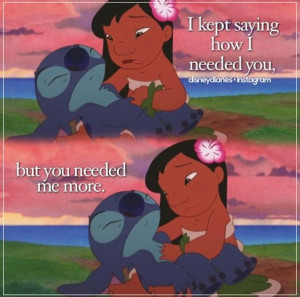 This scene is heartbreaking!:( Lilo and Stitch 2.