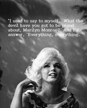 Marilyn Monroe Inspirational Quote
