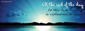 At The End Of THe Day Facebook Cover Layout