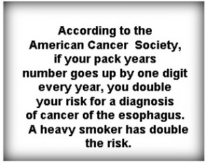 American Cancer Society quote about smoking risks and throat cancer