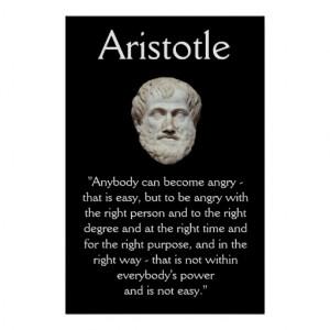 Aristote - citation de gestion de colère affiches