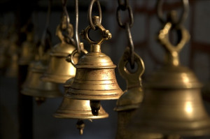 Bells at a Hindu Temple for Devotees to ring apon Arrival and ...