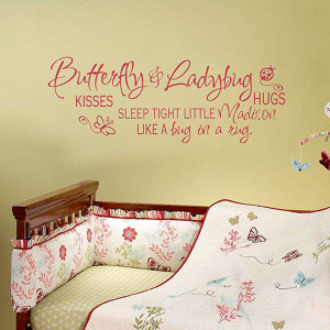 Quote Wall Decal With Name For Baby Girl And Boy Room Or Playroom Wall ...