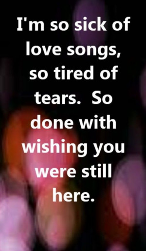 Ne-Yo - So Sick - song lyrics, song quotes. I'm so sick of love songs ...