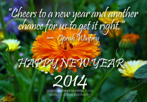 Cheers to a new year and another chance for us to get it right.""