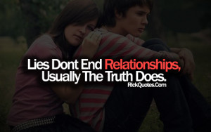 Relationship Quotes | Lies Don't End Relationships Couple Hug Sad ...