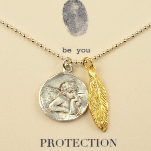 ... quote on card reads protection guardian angel angel feather guardian