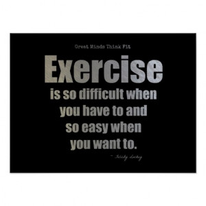Exercise Quote For Success! Poster