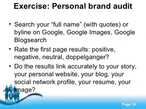 Personal Branding Quotes Exercise Personal Brand