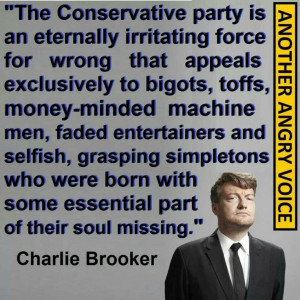 Charlie Brooker on conservatives