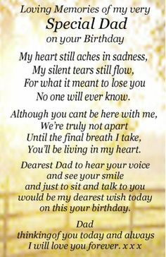 Birthdays In Heaven For Dad