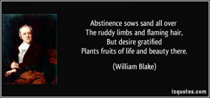 Abstinence Quotes Abstinence sows sand all over